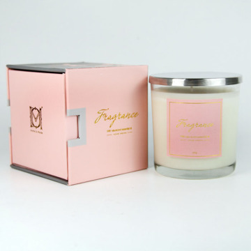 Tuck Top roze Custom Candle-papier Doos