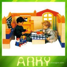 plastic building block, children indoor plastic building blocks