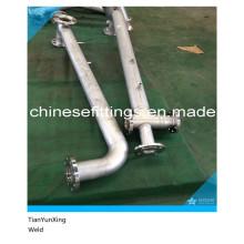 Raccords de tuyaux soudés à sec en acier inoxydable