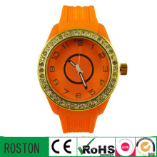 Business New Quartz Watch with Silicone Band