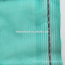 red de sombreado de plástico azul verde de hilo redondo para uso en la construcción