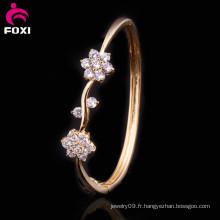 Vente en gros CZ Gemstone Bracelet Synthetic Diamonds Bangle