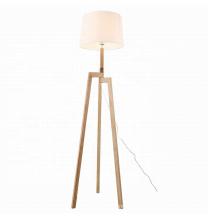 Modern Nordic European Wooden Tripod Standing Light Classic Floor Lamp for livingroom