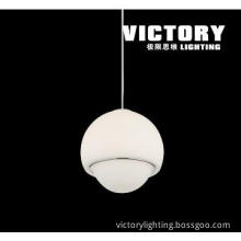 led pendant light glass moden lamp