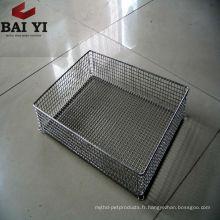 Panier de cuisson en treillis métallique en acier inoxydable