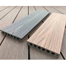 New design Co-extrusion composite decking UV-resistant capped wpc decking hollow co-extrusion wpc decking