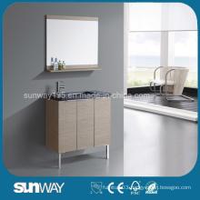Hot Sale Wood Veneer Bathroom Furniture with Sink
