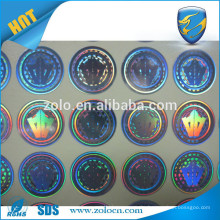 Anti-fake enuine tamper proof rainbow laser silver custom printing sticker for company product