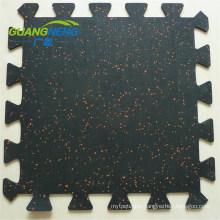 10-15mm Sport Interlocking Rubber Mat Gym Court Tiles Rubber Flooring