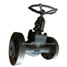 API602 1500lb válvula de globo de extremo de conexión de brida de acero forjado A105