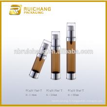 15 ml / 20 ml / 30 ml de bouteille plastique sans air, bouteille de pompe sans air en plastique, bouteille sans cosmétiques