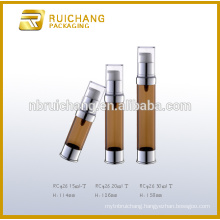 15ml/20ml/30ml plastic cosmetic airless bottle,plastic airless pump bottle,cosmetic airless bottle