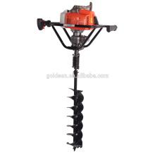68cc 2200w Hand-Held manual de la cerca de perforador de agujero de poste portátil de mano de tierra agujero taladro taladro para la perforación de la tierra