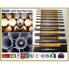 "Grooved black steel pipe 2"" AS, BS, JIS, DIN, ASTM, ERW steel pipe, welded steel pipes, galvanized steel pipes"