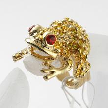 fashion Hot Sale New Arrival golden flog Rhinestone Beautiful women finger Rings