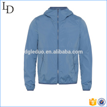Hooded with elastic jacket men outdoor high quality blank track jacket