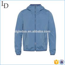 Com capuz com jaqueta elástica homens ao ar livre de alta qualidade jaqueta de trilha em branco