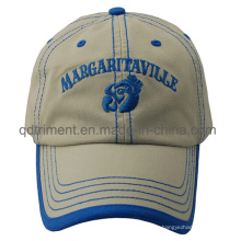 Washed Contrast Stitches Binding Embroidery Sport Baseball Cap (TMB0328)