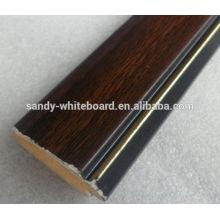 Moldura de madeira branca linha de madeira sólida