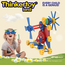 Plastic Machine Operation Gear Construction Block Toy for Boy