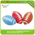 3D Rugby Shaped Eraser, Wholesale speelgoed gift gum