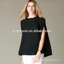100% Merinowolle Pullover Mode Stil weiche Hand Gefühl Poncho