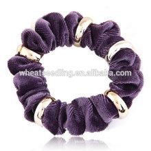 De alta calidad de metal flannelette cuerda banda de pelo de moda