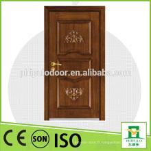 Porte de sécurité blindée en bois de haute qualité en acier fabriquée à Zhejiang