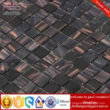 China supply factory cheap products black mixed Hot - melt tiles mosaic design