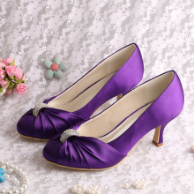 Purple Wedding Heels dengan Kristal