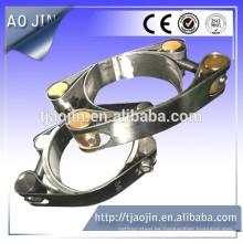 Abrazaderas de tubo de alta presión galvanizadas de doble tornillo