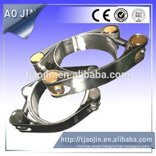 Galvanized double bolt high pressure pipe clamps