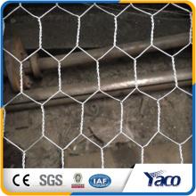 Yachao venda quente calibre 19 galvanizado malha de arame hexagonal