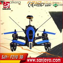Walkera f210 edição 3d 2.4 ghz hd câmera f3 3d derrubando o zangão de corrida de parede quadcopter com devoto 7 transmissor