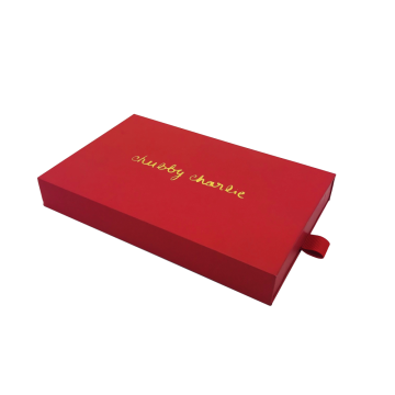 Special for Paper Electronic Box With Drawer Red cardboard face care product box export to Italy Importers