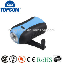 New style 1 led 3 modes hand crank torch light for out door