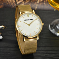 luxury  goldlis plated qyartz wrist watch