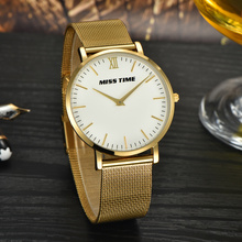 luxury japan movt gold stainless steel  business men quartz watch