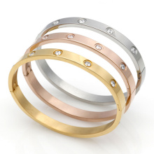 18K Gold Plated Fashion Brand Jewelry Love Carter Bracelets Bangles 316 Titanium Couple Bracelet