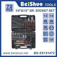 72 PCS 1/2 '' 1 / 4''dr. Chrome Vanadium Handwerkzeuge Sockel Set