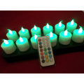 Warna berubah induktif rechargeable LED tealight lilin