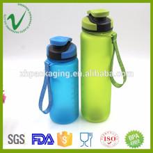 Bouteille de voyage en plastique transparent de qualité supérieure sans BPA pour l'emballage d'eau de sport