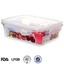 Защитных калиток микроволновая печь стеклянная вакуумная пищевая контейнер для хранения с крышкой 1600ml