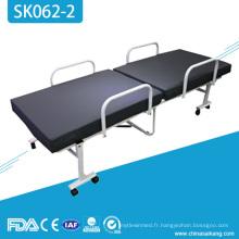 Lit de clinique d'hôpital de luxe de commande manuelle de meubles de SK062-2