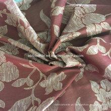 Tecido atrativo da cortina da flor do Stria vermelho régio