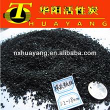 Carbón activado a base de carbón de malla 8X30 como portador de catalizador para la industria