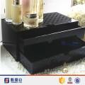 Organizador de maquillaje de acrílico negro del cajón de la joyería del cubo para la venta
