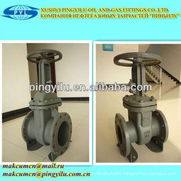 Z41h-16c GOST flange type DN100 gate valve for kazakhstan oil gas