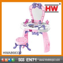 Alta qualidade Pretend Play Brinquedo de plástico Pink Dresser