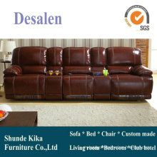 Home Theater Manual Leather Recliner Sofa (GA02)